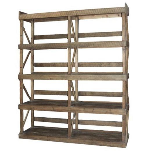 Libreria rustica legno massello