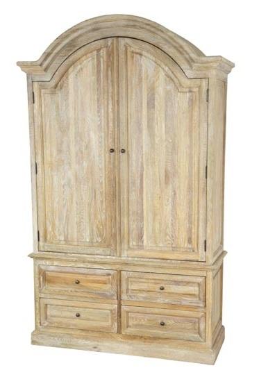 Armadio legno naturale 2 ante etnico outlet mobili etnici industrial shabby chic - Mobili legno naturale ...