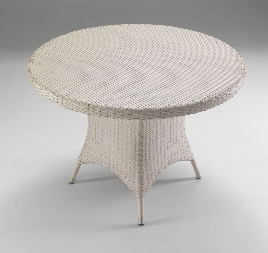 Tavolo tondo per esterno col Bianco - Etnico Outlet mobili ...