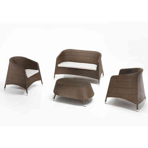 Salotto completo rattan Marrone