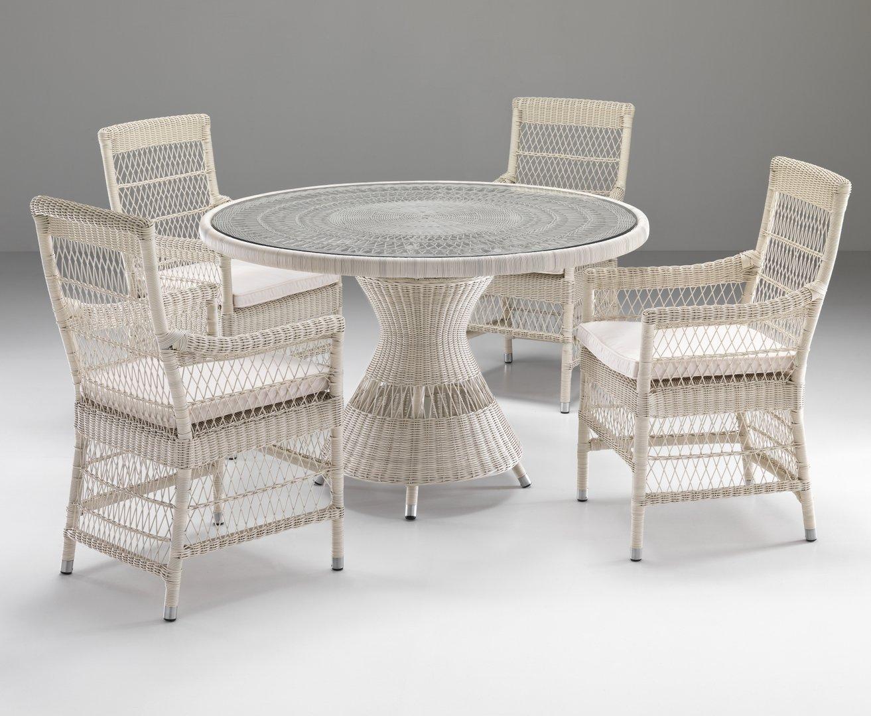 Set tavolo 4 poltroncine etnico outlet mobili etnici for Mobili etnici usati