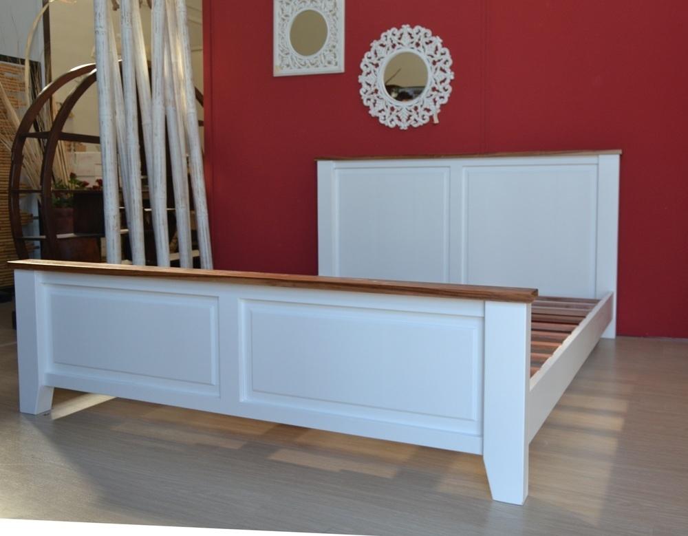 Letto shabby legno bianco camere da letto shabby chic vintage - Testate letto shabby ...