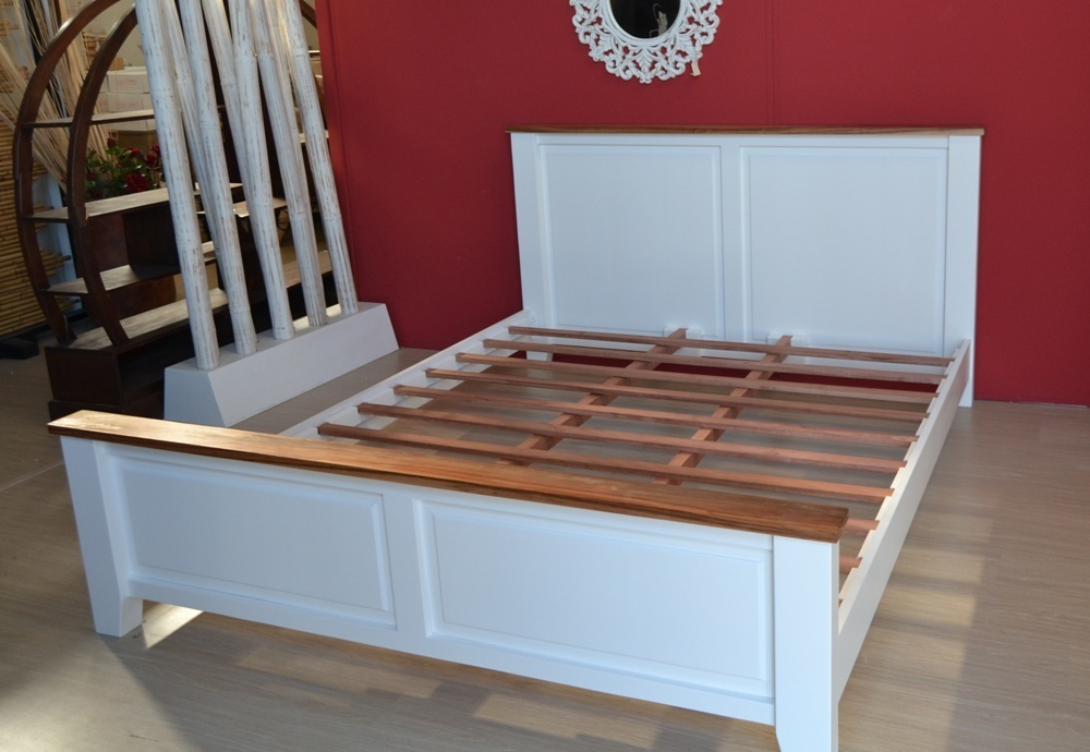 Letto shabby legno bianco camere da letto shabby chic vintage - Testate letto shabby chic ...
