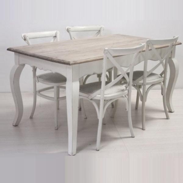 Tavolo legno bianco shabby chic