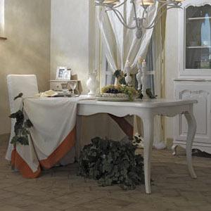 Tavolo Bianco Stile Provenzale.Tavolo Provenzale Ovale Allungabile Mobili Provenzali