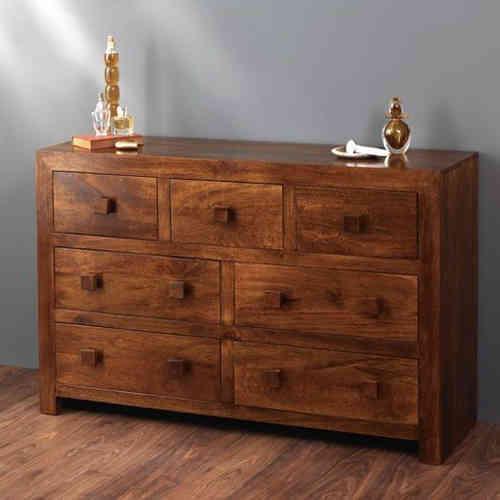 Cassettiera etnica 7 cass legno massello Outlet mobili etnici