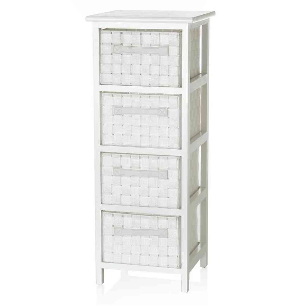 Ikea Mobili In Vimini cassettiera bianca 4 cesti mobili provenzali offerte
