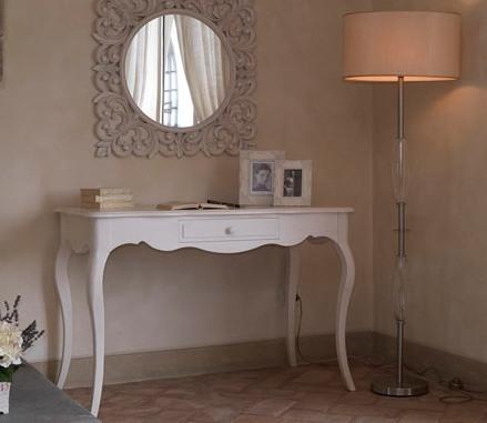 Scrivania consolle provenzale bianca etnico outlet mobili for Consolle scrivania