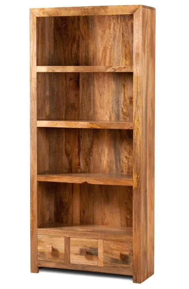 Libreria etnica legno massello naturale outlet mobili etnici - Mobili legno naturale ...