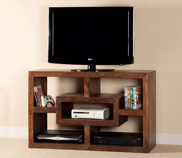 Mobile porta tv etnico legno col noce outlet mobili etnici - Mobile porta tv legno ...