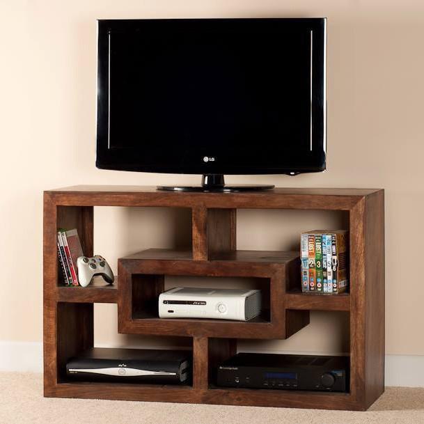 Mobile porta tv etnico legno col noce