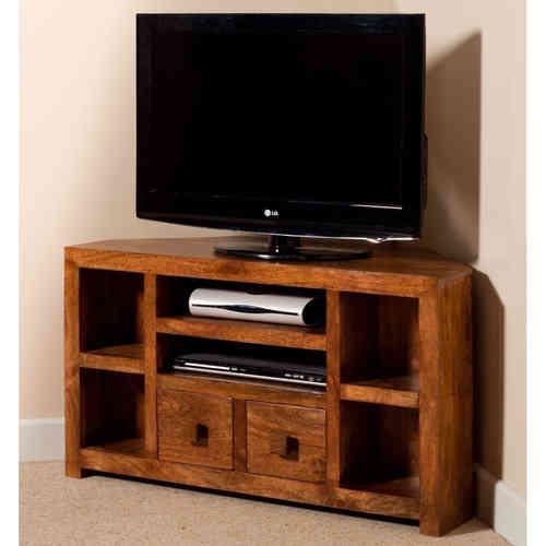 Mobile porta tv etnico legno ad angolo