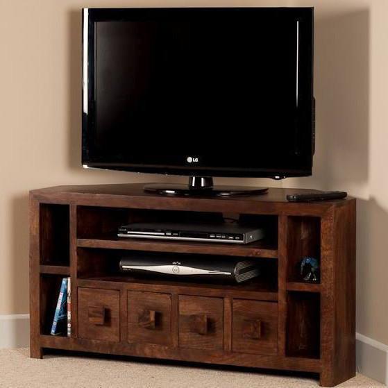 Mobile porta tv etnico legno ad angolo outlet mobili etnici - Mobile porta tv legno ...