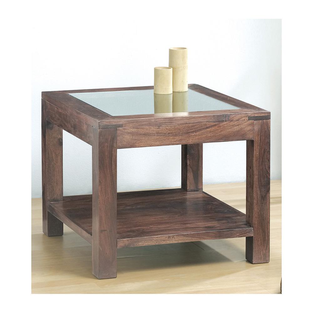Tavolino quadrato con cristallomobili etnici scontati for Tavolino con vetrina
