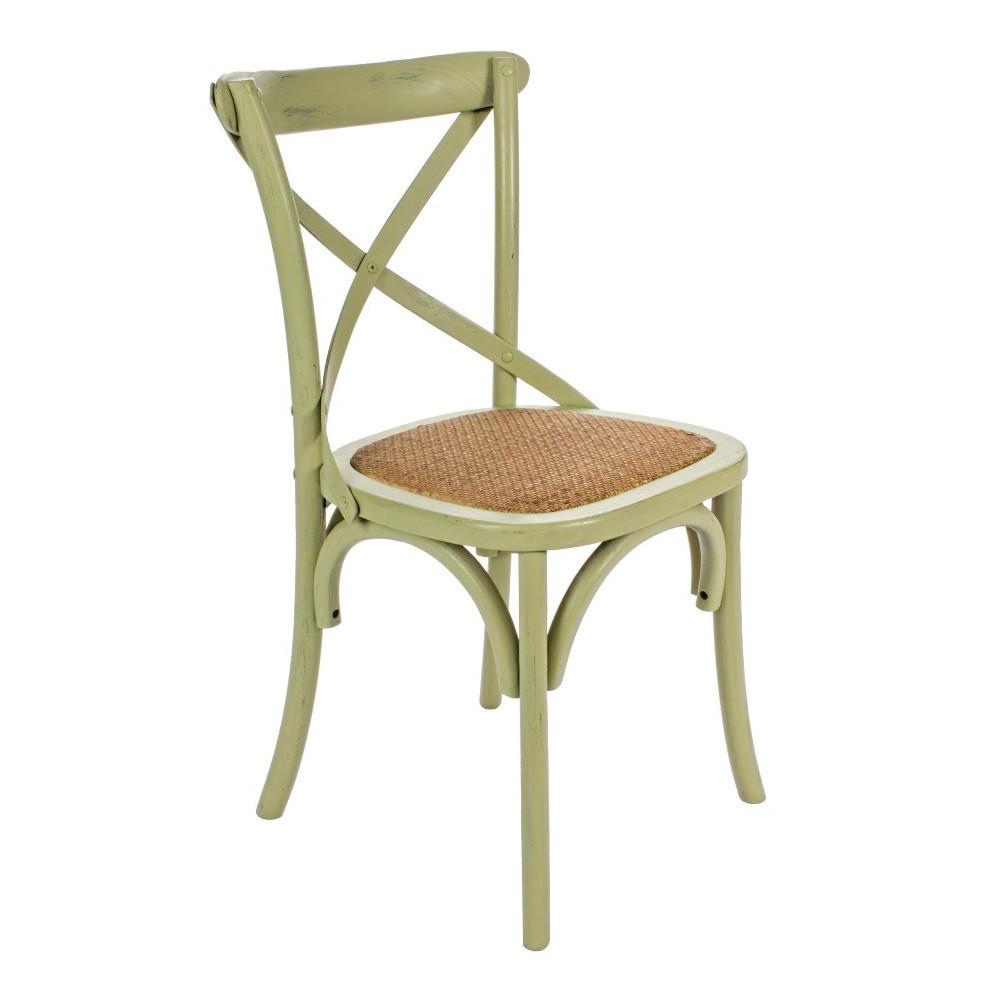 Sedia legno olmo verde shabby Sedie provenzali offerte online