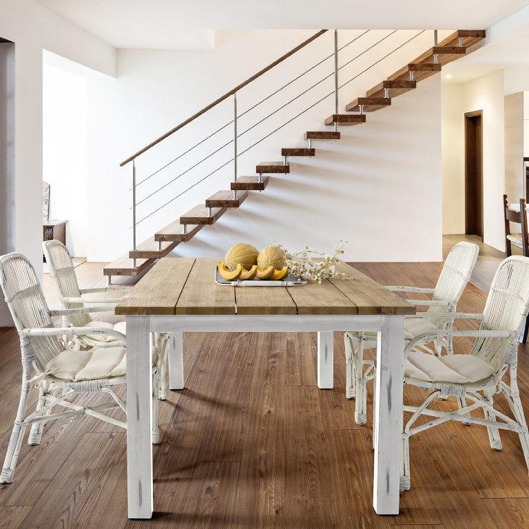 Set tavolo e sedie shabby giardino bianco offerte online