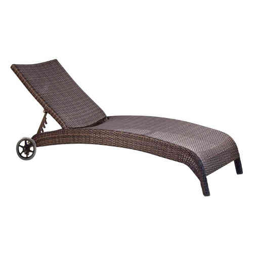 Lettino polyrattan Brown Coffe