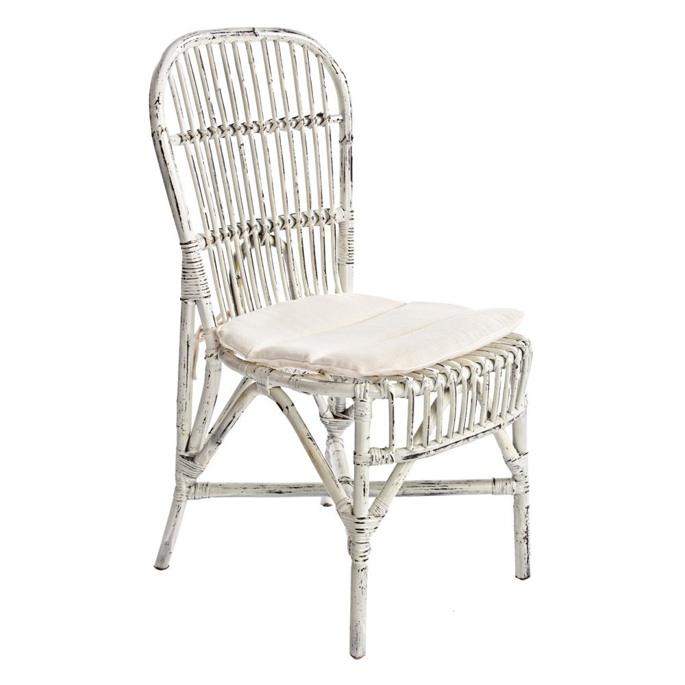 Sedie In Vimini Bianche.Sedia Rattan Bianco Shabby Chic Mobil Shabby Chic Etnico Outlet
