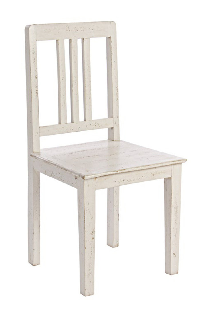 Sedia bianca anticata sedie decapate online for Sedia design bianca