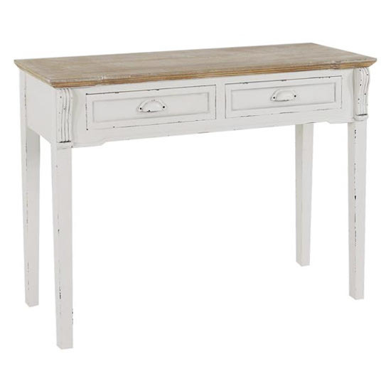 Consolle bianca shabby chic etnico outlet mobili etnici for Consolle shabby chic