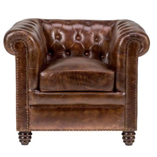 Poltrona Chesterfield in pelle
