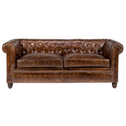 Divano Chesterfield in pelle 3P