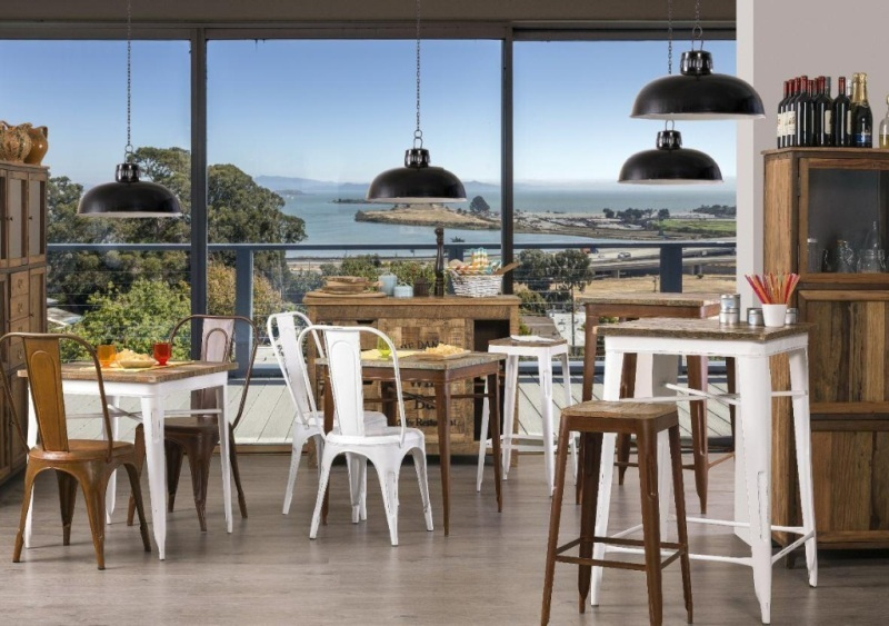 Tavolo Industriale Quadrato : Tavolo quadrato industrial legno tavoli vintage ferro on line