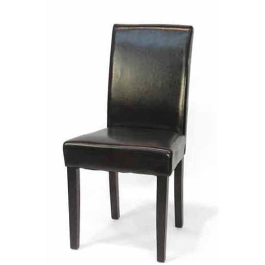 Set 2 pz sedia in ecopelle nera sedie vintage industrial for Sedie nere ecopelle