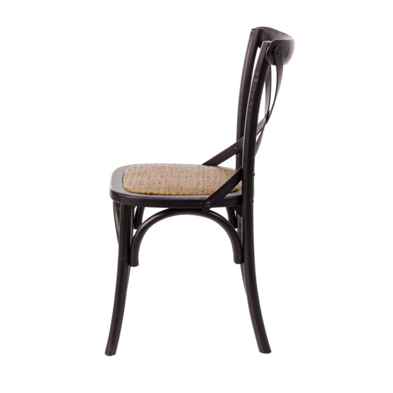 Sedia in olmo nera arredamento stile industriale for Sedia design nera
