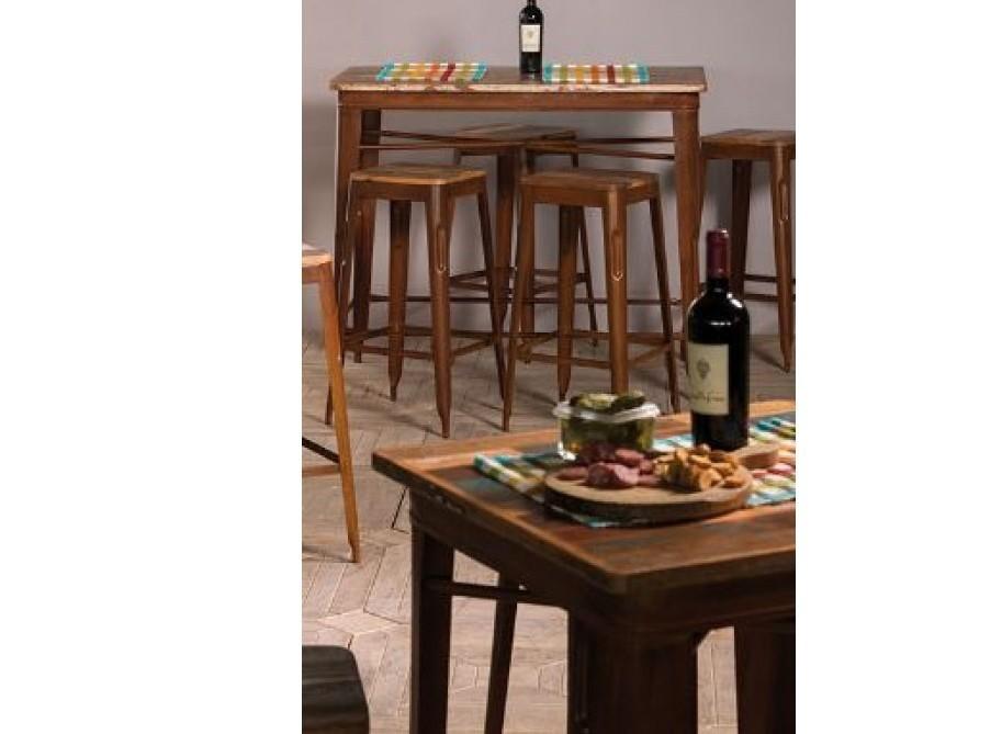 Sgabello bar industrial alto mobili vintage vendita on line