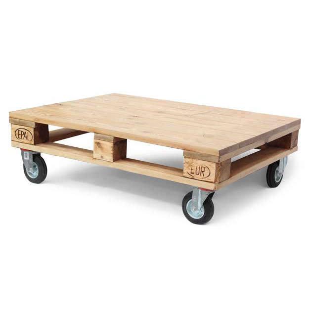 Tavolino bancale con ruote