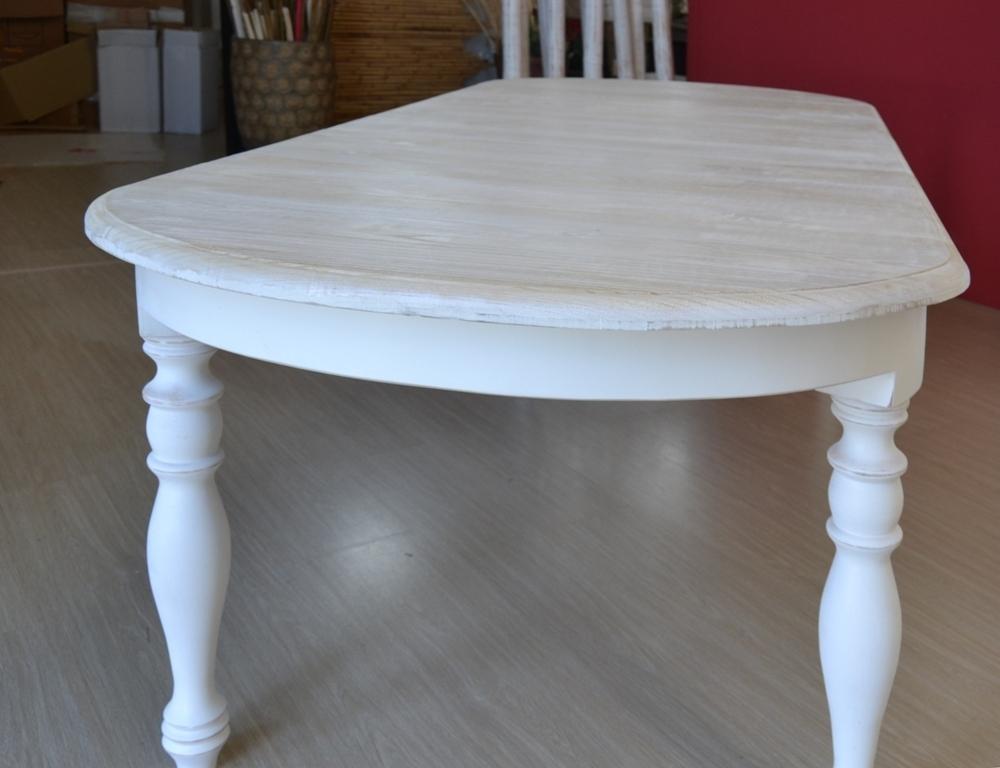 Tavolo ovale bianco shabby chic allungabile mobili etnici for Tavolo ovale allungabile legno massello
