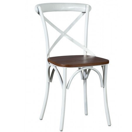 Sedia cross bianco shabby Sedie legno bianco