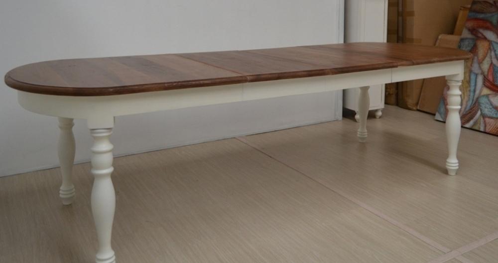Tavolo Ovale Bianco : Tavolo ovale bianco provenzale tavoli provenzali allungabili