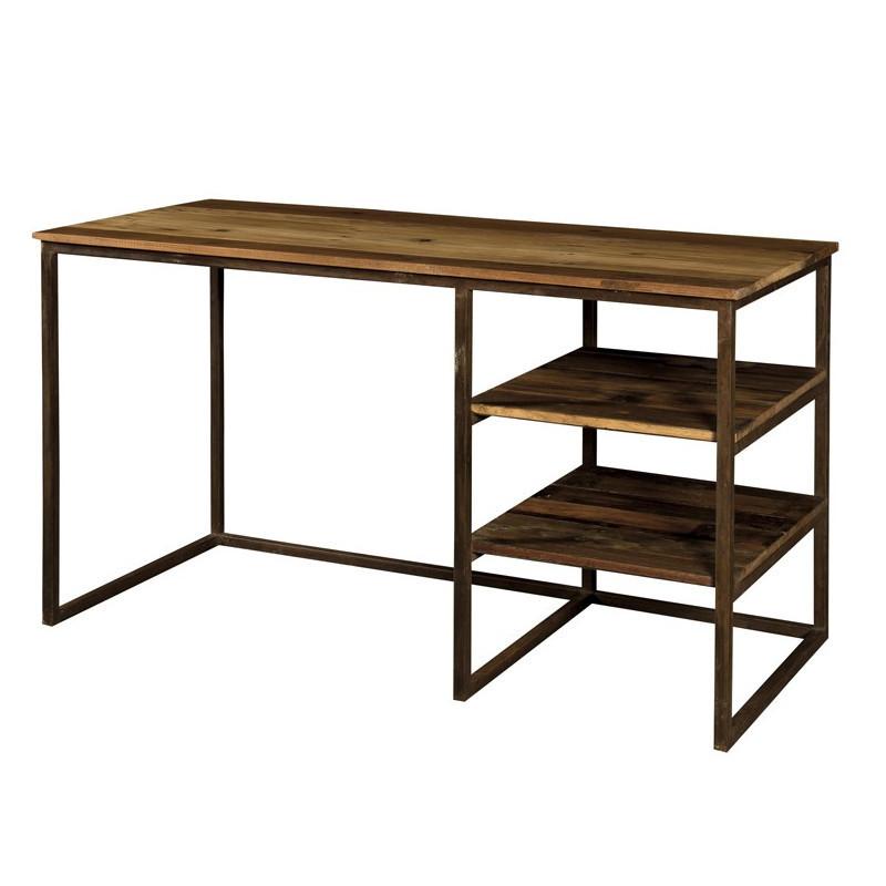 Scrivania industrial ferro e legno arredi stile for Scrivania legno