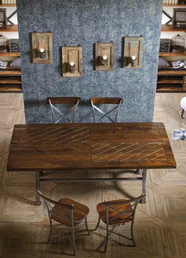 Sedia industrial ferro e legno Arredamenti stile ...