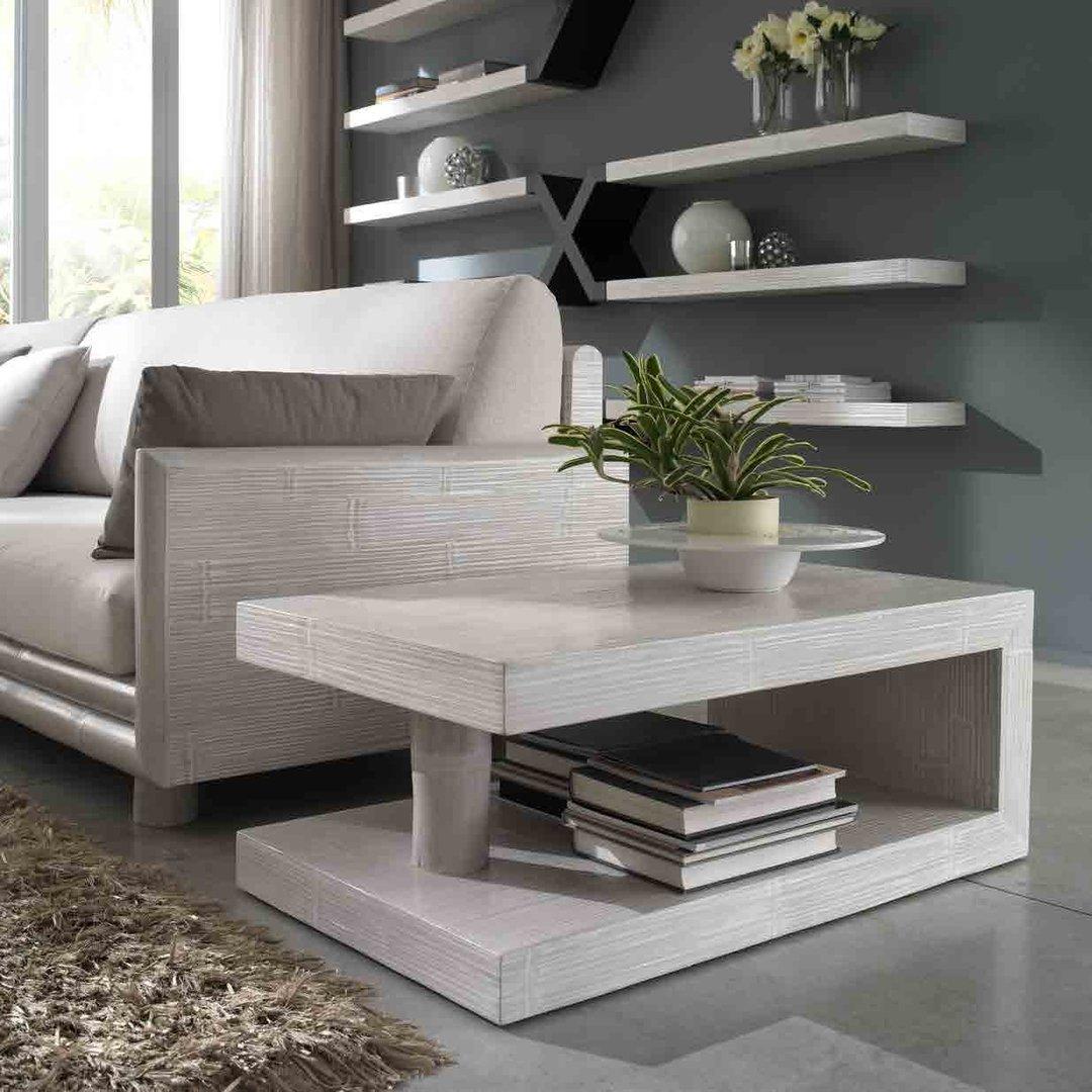 Tavolino bamb da salotto white tavolini bamboo online for Mobili bassi da salotto