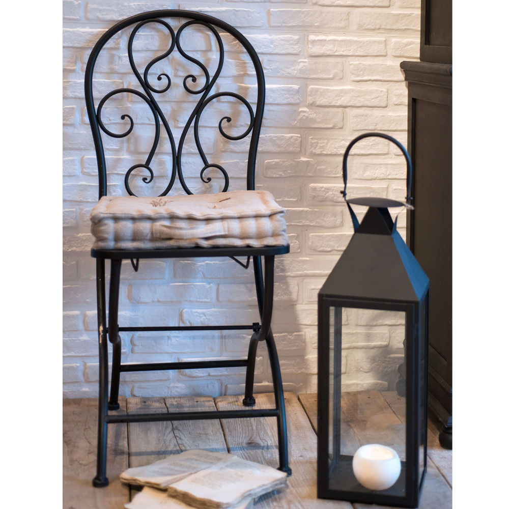 Sedia in ferro battuto nera Sedie giardino online