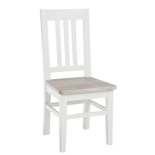 Sedia bianca shabby chic