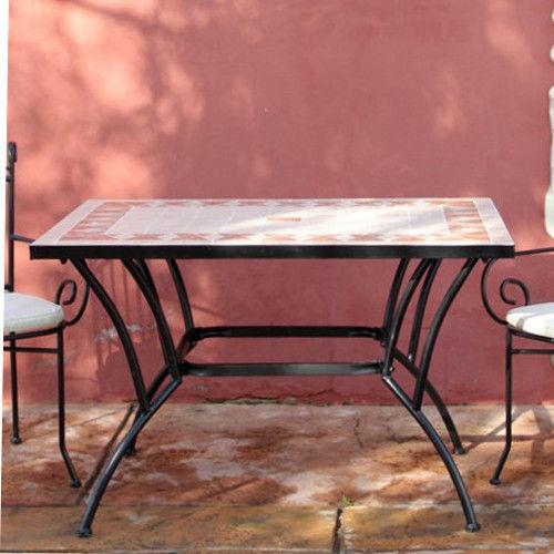 Tavoli Per Esterno In Ferro E Ceramica.Tavolo In Ferro Top Ceramica