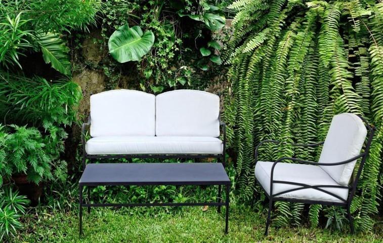 Poltrona ferro con cuscini Sedie giardino online