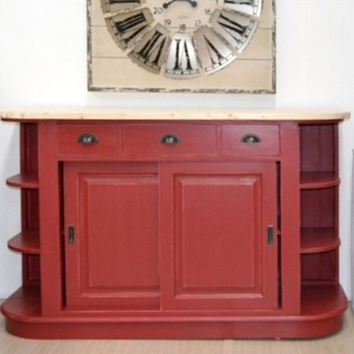 Buffet Shabby rouge