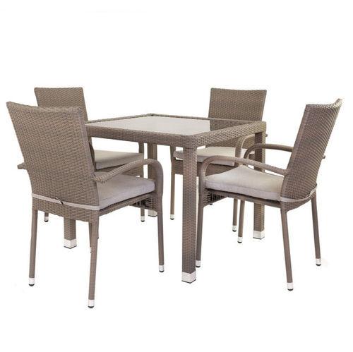 Tavolo Con Sedie Rattan.Set Tavoli E Sedie Etniche Industrial Shabby Provenzali Giardino