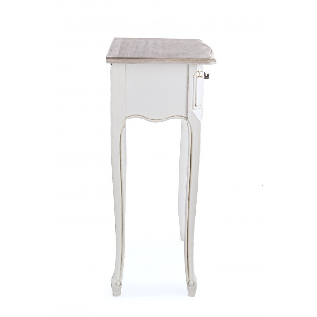 Consolle shabby chic bianca mobili shabby online for Consolle bianca