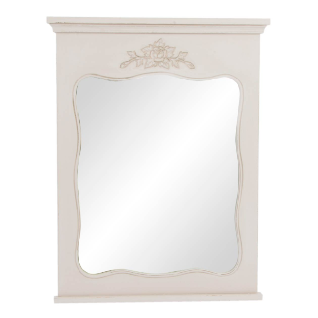 Specchio francese legno etnico outlet mobili etnici industrial shabby chic - Specchio in francese ...