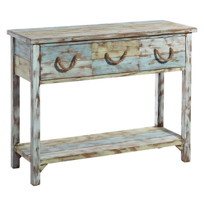 Consolle anticata stile marinaro mobili shabby online - Mobili stile marinaro ...