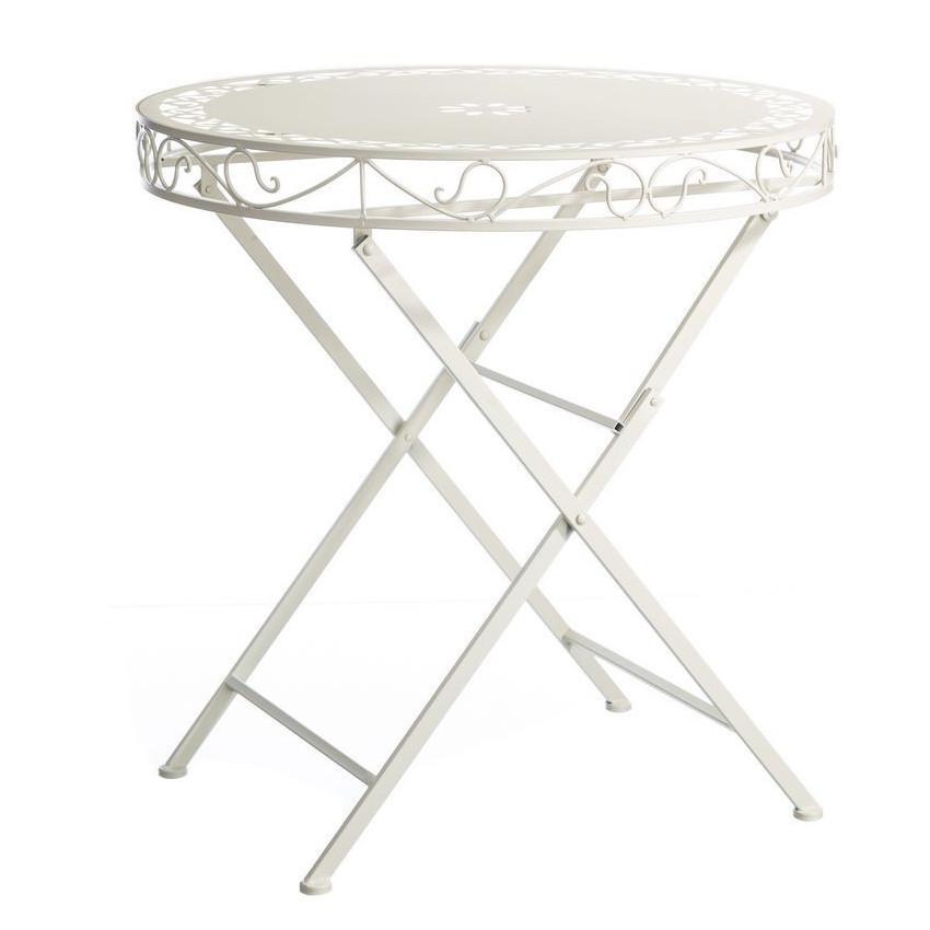 Tavolo Ferro Bianco.Tavolino Ferro Battuto Bianco