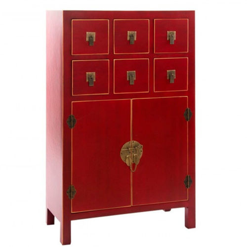 Mobile orientale rosso shabby