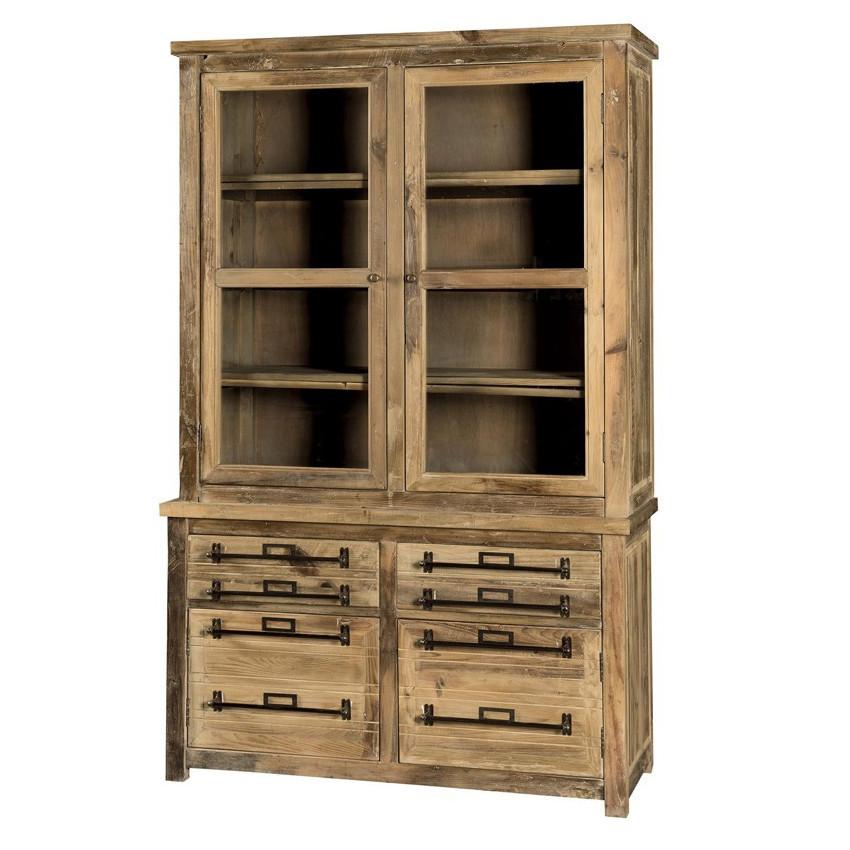Vetrina legno massello mobili vintage e industrial online for Mobili shop online