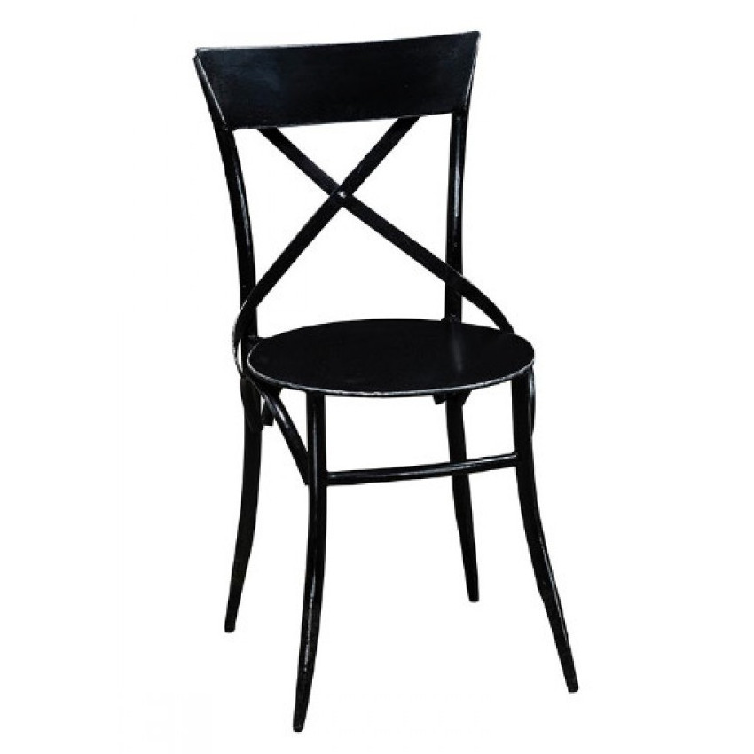 Sedia industrial nera ferro - Mobili e sedie stile industriale